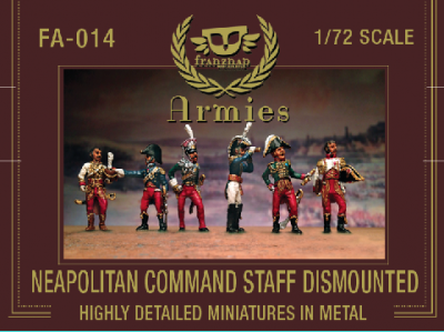 FA-014 - Neapolitan Command Staff Dismounted 1/72