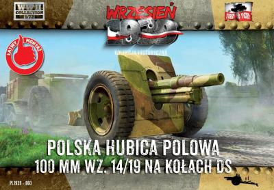 WWH060 - Skoda 100mm Howitzer on DS wheels  1/72