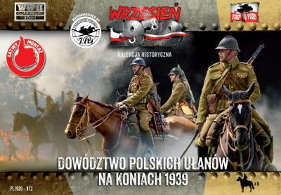 WWH072 - Polish Uhlans command on horseback 1/72