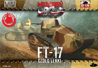 WWH013 - Polish FT-17 Light Tank with Octagonal Turret and Machine Gun 1/72