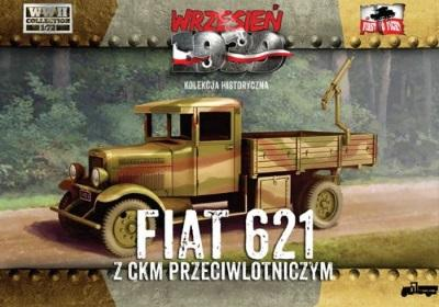 WWH017 - Polish Fiat 621 with AA Machine Gun 1/72