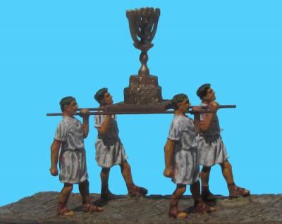 72-1003 - Set 3 4x Legionaere tragen die Menora auf Gestell 1/72