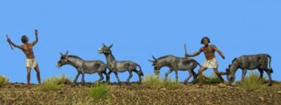 72-4001 - Hirten mit Eseln 1/72