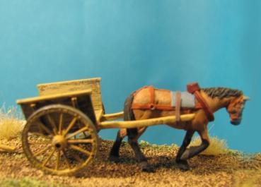 72-Z-004 - Kleiner Bauernkarren mit 1 Pferd 1/72
