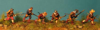 72-5010 - Musketiere - 6 Stck. laufend 1/72
