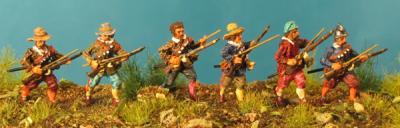 72-5014 - Musketiere in Bereitschaft 1/72