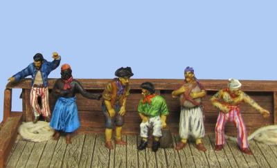 72-8003 - 6 verschiedene Piraten 1/72