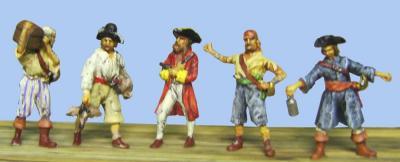 72-8004 - 6 verschiedene Piraten 1/72