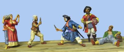 72-8005 - 5 verschiedene Piraten 1/72