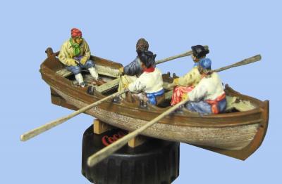 72-8006 - 5 verschiedene Piraten Crew fuer Beiboot 1/72