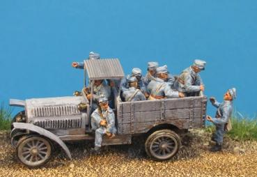 WW1 – 014 Artillerist - trailer for tractor no.9 6 Figures 1/72 1/72
