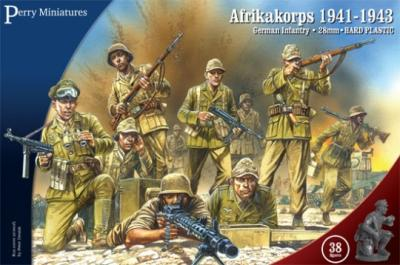 GWW1 - Afrikakorps, German Infantry 1941-43 28mm