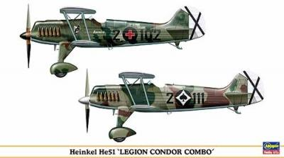 00990 - Heinkel He 51 Legion Condor Combo (2 in box) 1/72