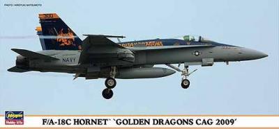 01903 - McDonnell-Douglas F/A-18C Hornet 'Golden Dragons CAG 2009' 1/72