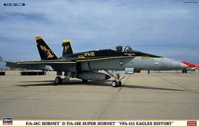 01912 - McDonnell-Douglas F/A-18C / F-18E Hornet VFA-115 Eagles History (3 kits) 1/72