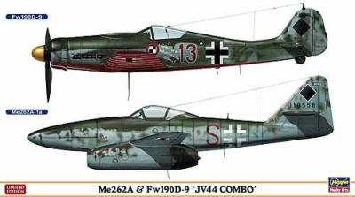 01952 - Messerschmitt Me 262A & Focke-Wulf Fw 190D-9 JV 44 Combo 2 kits in box 1/72