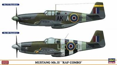 "01985 - North-American Mustang Mk.III ""RAF Combo"" (Two kits in the box) 1/72"