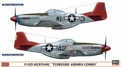 01991 - North-American P-51D Mustang TUSKEGEE AIRMEN COMBO (Two kits in the box) 1/72