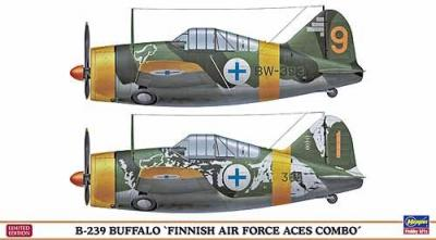 "01992 - Brewster B-239 Buffalo ""Finnish Air Force Aces Combo"" (Two kits in the box) 1/72"