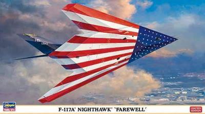 02011 - Lockheed F-117A Nighthawk 'Farewell' stars and stripes scheme 1/72