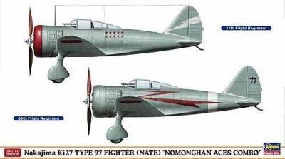 "02038 - Nakajima Ki-27 Type 97 Fighter (Nate) ""Nomonghan Aces Combo"" (Two kits in the box) 1/72"
