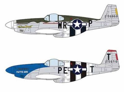 02054 - North-American P-51B Mustang D-Day Marking Combo (Two kits in the box) 1/72