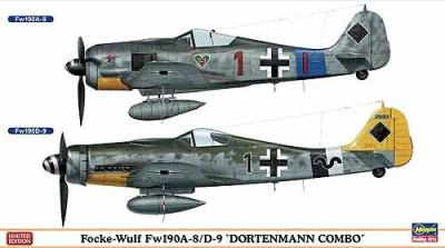 02078 - Focke-Wulf Fw 190A-8/D-9 Dortenmann Combo (Two kits in the box) 1/72