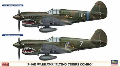 "02082 - Curtis P-40E Warhawk ""Flying Tigers Combo"" (Two kits in the box) 1/72"