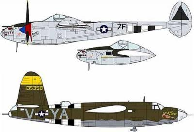 02091 - Lockheed P-38J Lightning & Martin B-26B/C Marauder