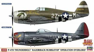 "02099 - Republic P-47D Thunderbolt Razorback/Bubbletop ""Operation Overlord (Two kits in the box) 1/72"