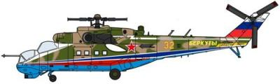 02127 - MiL Mi-24P Hind Golden Eagles 1/72