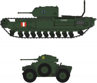 30043 - Churchill Mk.I/II & Daimler Mk.II