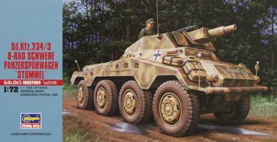 MT054 - German Sd.Kfz.234/3 8-Rad Schwere Panzerspahwagen 'Stummel' 1/72