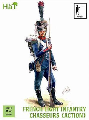 28016 - French Light Infantry Chasseurs Action 28mm