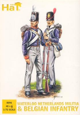 8096 - Waterloo Netherlands Militia and Belgian Infantry 1/72