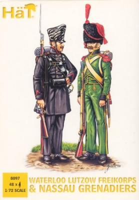 8097 - Waterloo Lutzow Freikorps & Nassau Grenadiers 1/72