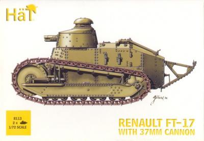 8113 - Renault FT-17 with 37mm Cannon 1/72