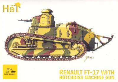 8114 - Renault FT-17 with Hotchkiss Machine Gun 1/72