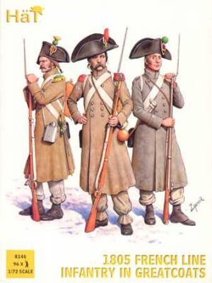 8146 - Infanterie française de ligne en manteau 1805 1/72