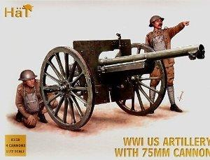 8158 - WWI US Artillery with 75mm Cannon 1/72