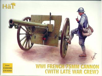 8161 - French 75mm Cannon (with Late War Crew) 1/72
