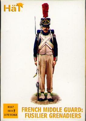 8167 - Moyenne Garde française Fusiliers grenadiers 1/72