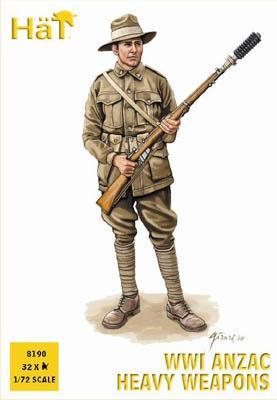 8190 - WW1 ANZAC Armes lourdes 1/72