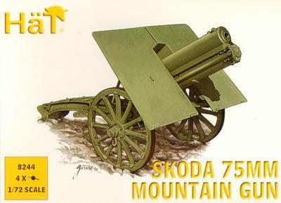 8244 - Skoda 75mm Mountain Gun WW1 1/72
