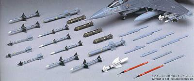 X7209 - Aircraft Weapons V. U.S.Missiles and launcher set 1/72