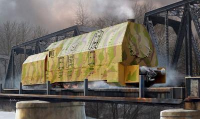82922 - German PanzerBR57 Armoured Locomotive