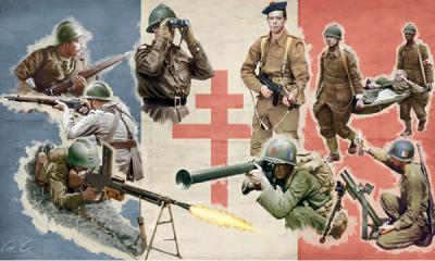 I6189 Französische Infanterie, 2. Weltkrieg,  1/72