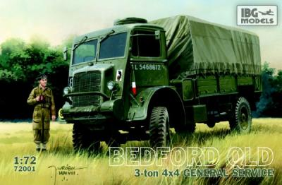 72001 - Bedford QLD 3 ton 4 x 4 lorry 1/72