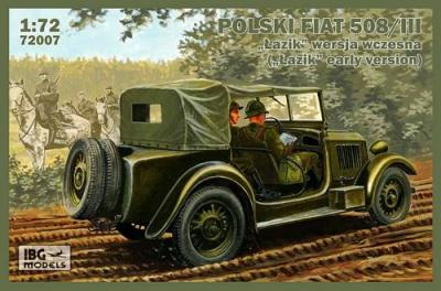 72007 - Polski Fiat 508/III early version jeep 1/72
