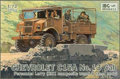 72013 - Chevrolet C15A No.Cab 13 Personnel Lorry (2H1 composite wood and steel body) 1/72